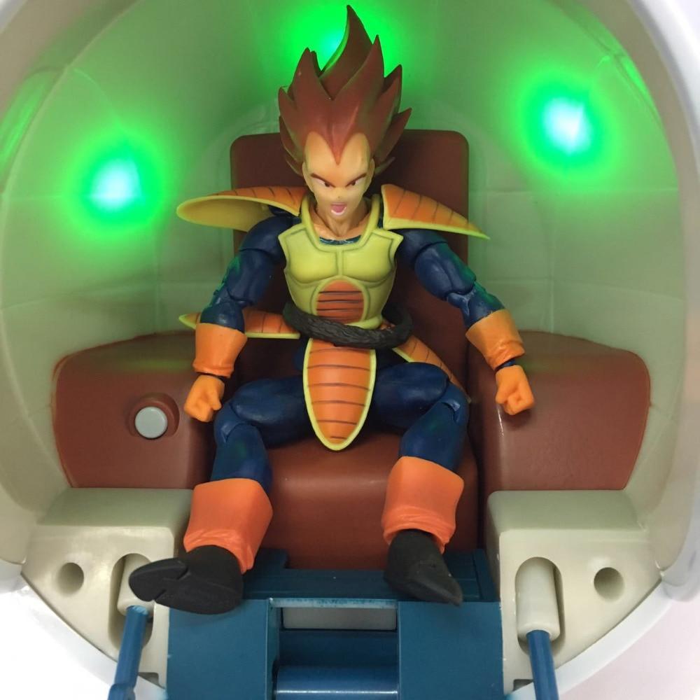 Nouveau chaud 18 cm Dragon ball ne comprend pas végéta Super Saiyan vaisseau spatial capsule lumineuse action figure jouets noël cadeau poupée