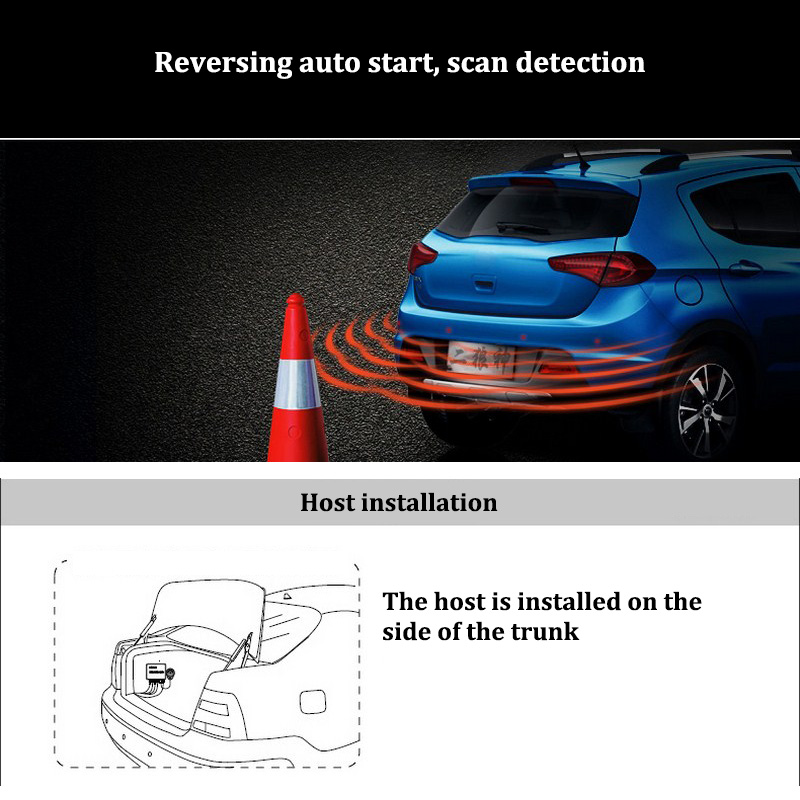 Image 5 - 4 Probe Reversing Detector System Automatically Start Probing Auto Parking Sensors Car Microcomputer Intelligent Control-in Parking Sensors from Automobiles & Motorcycles