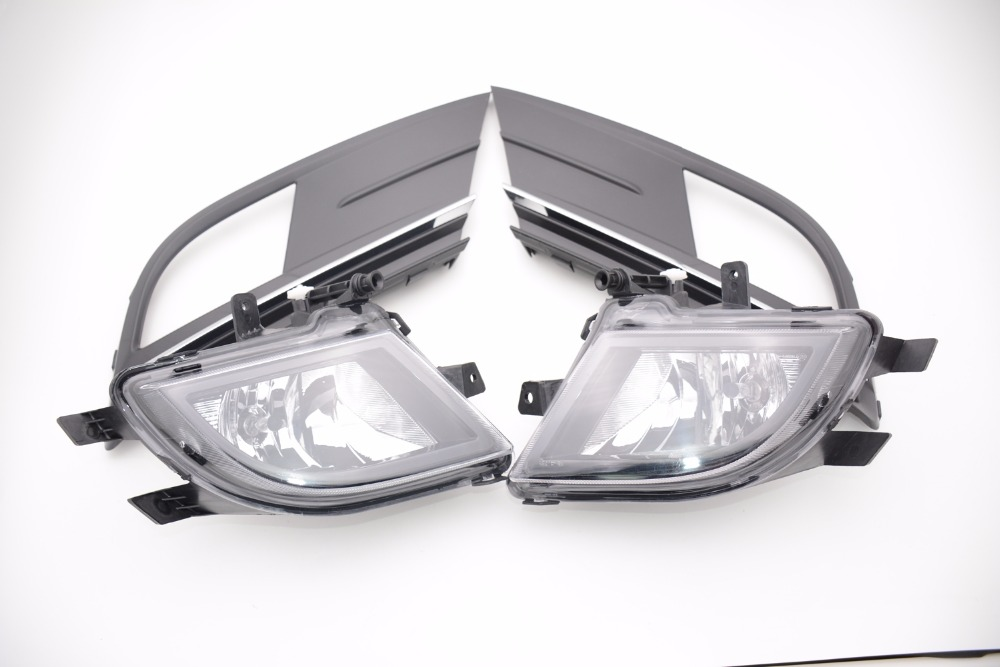 4Pcs Front Right Left Driving Fog Light Lamp + Cover Bezel Kits for Volkswagen VW Jetta 2015-2017 jicosmoslu front left right fog light lamp anti fog lamp light lifan smily 320 f4116100 f4116100a2 f4116200 f4116200a2