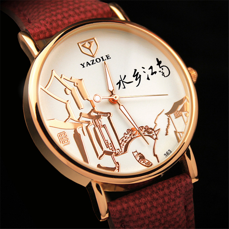Style chinois montre femmes montres dames 2019 marque de luxe célèbre femme horloge Quartz montre poignet Relogio Feminino Reloj Mujer