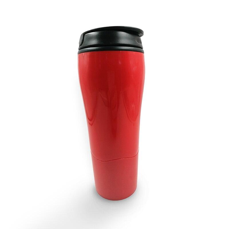 Drop Shipping Mug Tumbler New Strong Grips Mug Magic Sucker with Innovative Push Not Pour Easily Take Water Sport Cup 470ml