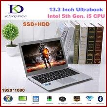 Классический 13.3 «i5 5Gen Core i5 5200U двухъядерный нетбук ультра Intel HD Графика 5500 портативный компьютер с HDMI vga sd WI-FI 2.2 ГГц