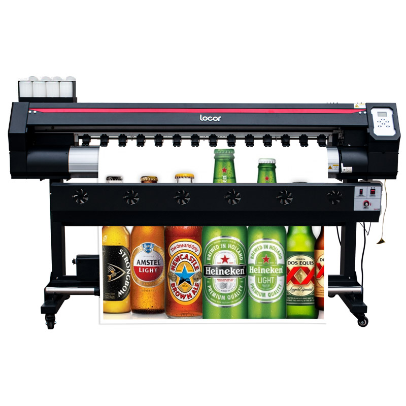 1.6M Automatic Inkjet Printer Wide Format Eco Solvent Pvc Banner Printer Machine 160Cm Ecosolvent Printer 1440 Resolution