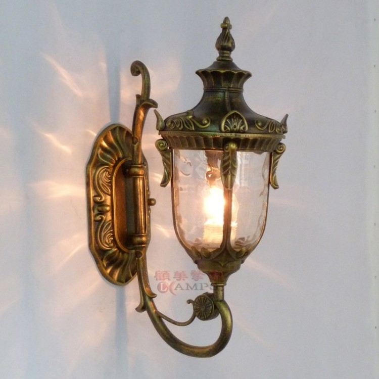 Outdoor wall lamp rustic fashion waterproof lighting for Vintage exterior light fixtures