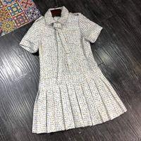 Новинка 2018 Высокое качество модные платье для подиума летние платья Для женщин бренда Элитная одежда Женская одежда A08534