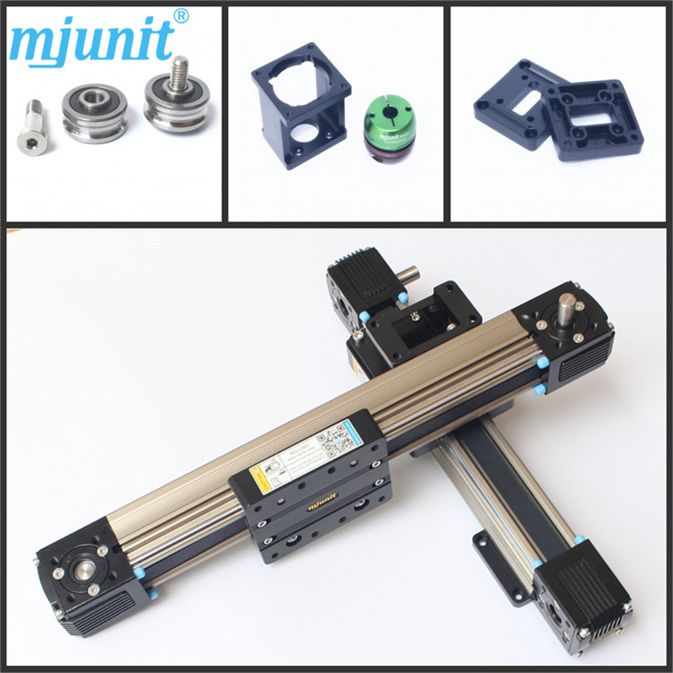 High speed low vibration guideway stable motion Belt drive linear actuator motion stage slide