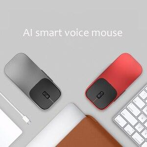 Image 2 - Ai voz inteligente sem fio mouse suporte de entrada de voz alta precisão sensing 2.4g mouse sem fio bluetooth rechargable