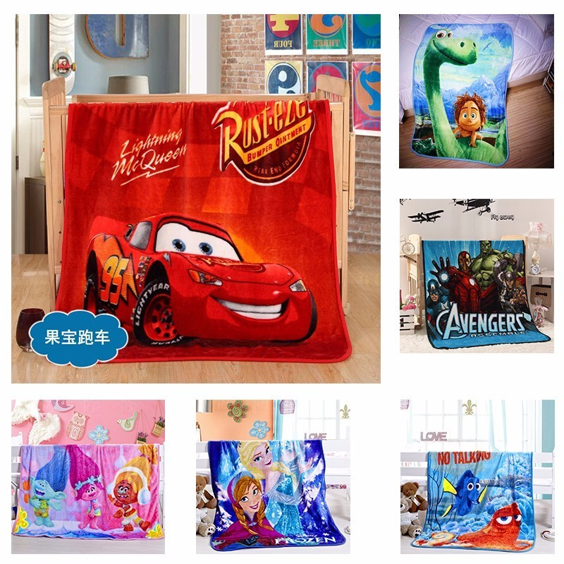 Cartoon Printed Throw Blanket Knit For Sofa Flannel Blankets For Children  Plane Travel Plaids 2017 New Coral Fleece Blanket Bed-in Blankets From Home