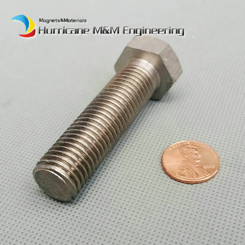 1 Pack M16 Ti Bolt and Nut M16x60mm Hex Titanium Bolt Original Ti Color not Polished Hexagon Titanium Screws Ti Fastener special copper screws copper hexagon bolt copper outer hexagonal screws m16 80