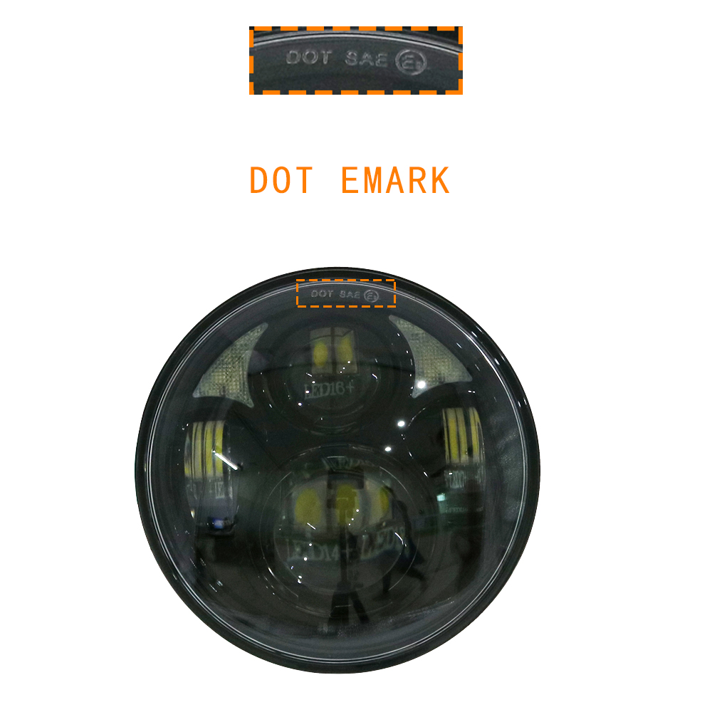 """5.75 pouces moto LED rond moto rcycle phare pour Harley large glisse XL1200X FXDX soixante-dix deux phare LED 5 3/4 """"phare"""