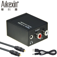 Aikexin DAC Digitale ad Analogico Audio Converter Ottico Toslink Coassiale ad Analogico R/L RCA Audio Adapter con 3.5mm Jack di Uscita
