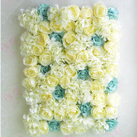 Silk garden rose art studio wedding backdrop flowers flower balcony wall flower wall three dimensional simulation
