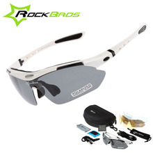 RockBros Polarized Cycling Sun Glasses Outdoor Sports Bicycle Eyewear 5 Lens