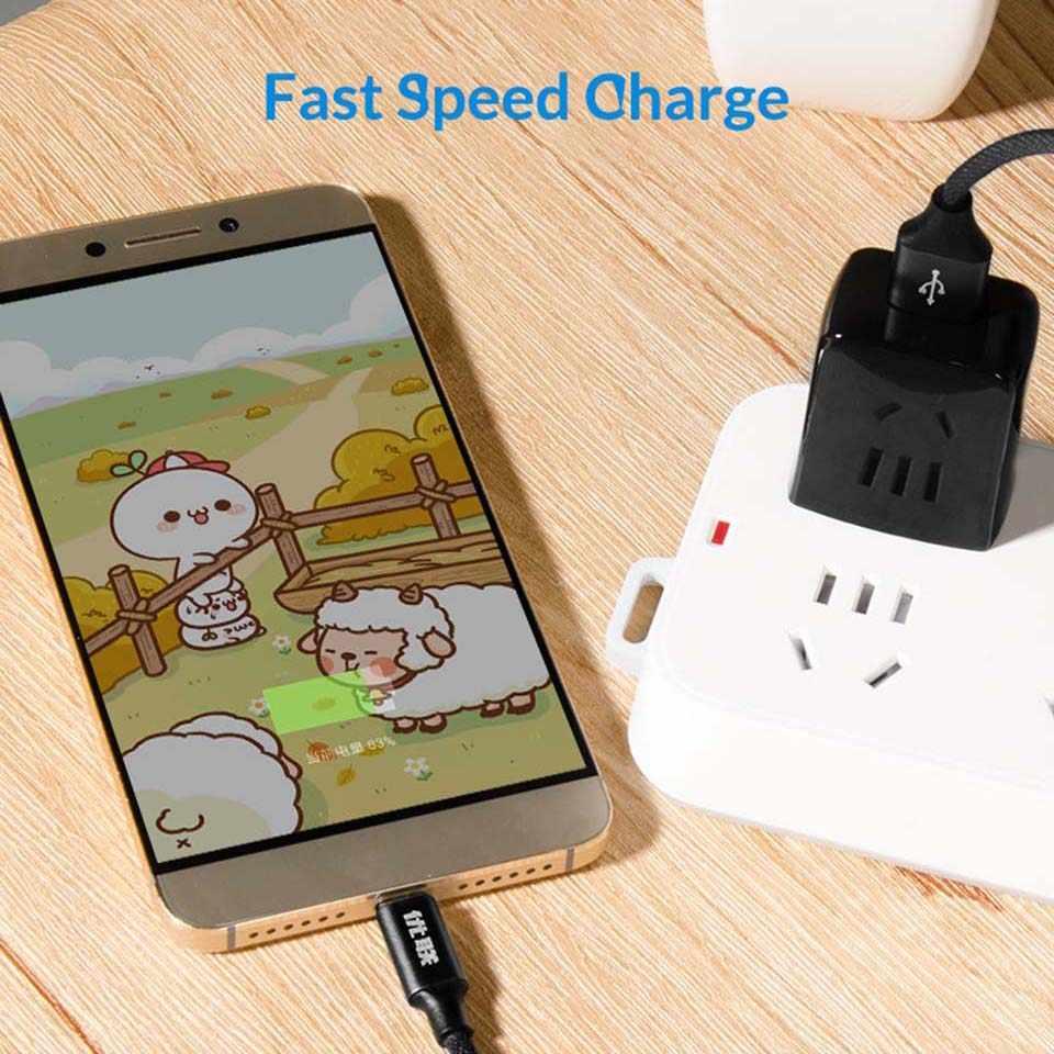 Unnlink USB C 3.1 نوع C كابل USB 2.4A سريع الشحن ونقل البيانات كابل ل P20 Mate20 غالاكسي S8 S9 Mi8 Redmi نوت 5