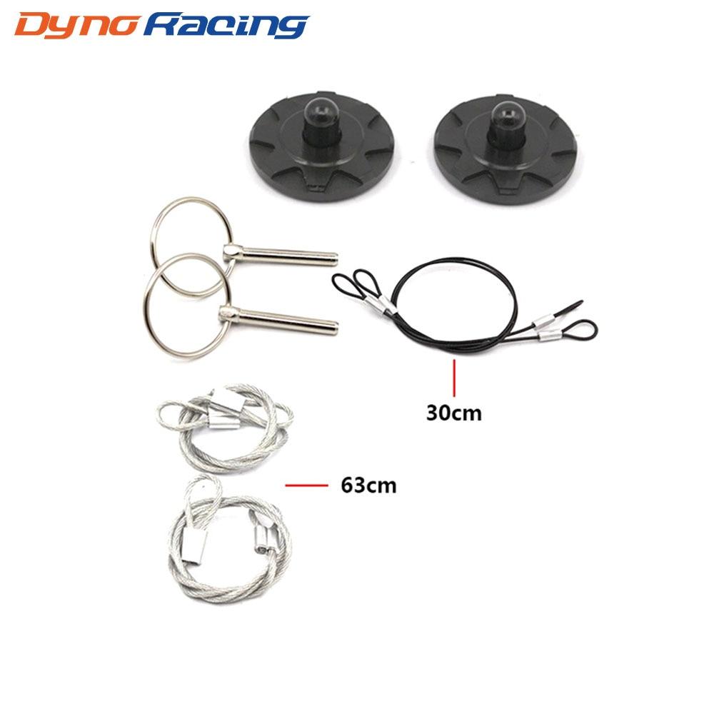 Yeni Universal CNC Billet Alüminium Racing Başlıq Pin Görünüş Dəsti Başlıq Pin kilidi (Defolt: qara) YC100809