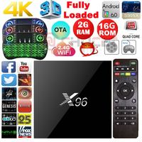 X96 Android 6 0 TV Box Amlogic S905X Quad Core Kodi Pre Installed 2GB 16GB WiFi