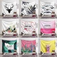 Shipping Cactus Watercolor Hanging Wall Tapestries Mandala Bohemian Tapestry Landscape Wallpaper Wall Art Shawl Throw