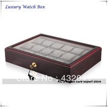 Высокое качество 18 сетка вуд чехол часы дисплей показать чехол Box хранения организатор держатель GC02-TZ-18W