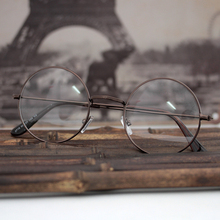 JN Top Reading Glasses Mirror Round Clear Lens Stainless Steel Frame Unisex Optics Eyeglasses Men Women Fashion Style 0716