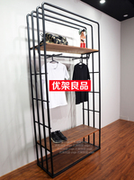 Loft American retro landing hanger Nakajima aircraft clothing store shelf as the old clothing display rack combination