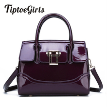 купить High Quality Patent Leather Ladies Handbag New Fashion Personality Temperament Casual Wild Shoulder Messenger Bag по цене 1262.24 рублей