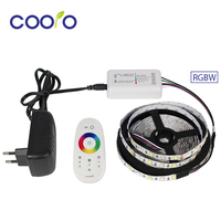 Flexible DC12V 5050 RGBW RGBWW LED Strip Light RGBW LED Strip RF Controller 3A Power Adapter