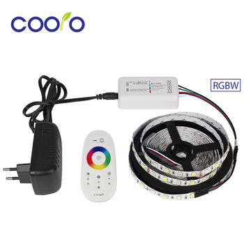 Lumière Flexible de bande de LED de DC12V 5050 RGBW/RGBWW + contrôleur LED de la bande RF de RGBW + ensemble complet d'adaptateur de puissance 3A