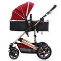 2016 carrinho De bebê de Luxo, seis cor quatro rodas único assento, estilo de moda, dobrável carrinho de criança, carrinho de criança carreg o saco,