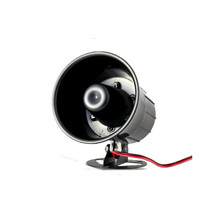 Large Sounds Wired Siren 120db Mini Wired Siren Horn DC 12V for Wireless Home Alarm Security