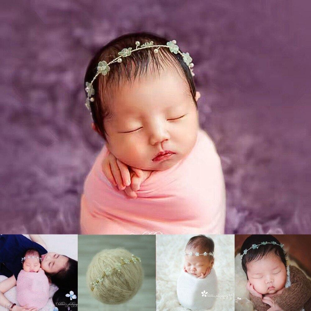 noworodka pałąk fotografia handmade niemowlę Hairbands kwiat - Odzież dla niemowląt - Zdjęcie 2