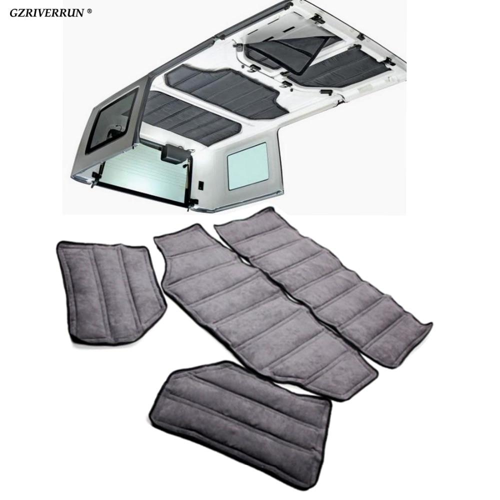 GZRIVERRUN insonorisation bouclier thermique pour Jeep Wrangler JK 4 portes Hardtop insonorisé mousse Auto insonorisant Kit d'isolation de voiture