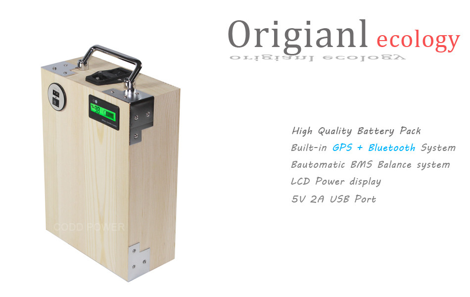 Clearance APP 24V 40AH Electric bike LiFePO4 Battery Pack Phone control Electric bicycle Scooter ebike Power 1000W Wood 8