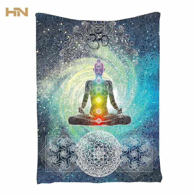 bouddha chakra tapisserie tapiz mandala zen m ditation batik tenture indien couvre lit. Black Bedroom Furniture Sets. Home Design Ideas
