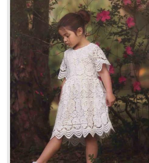 Летняя Детская Обувь для девочек крючком Кружево Платья для женщин для маленьких девочек принцессы святить из платья для малышей корейский... ...