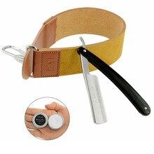 ZY430+ Straight Razor Shaving Razor Cut Throat Knife + Sharpening Leather Strop For Men Barber + Polishing Wax Paste