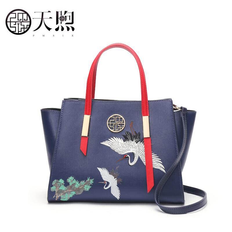 Main À Épaule Femmes De En Broderie Blue Qualité Marques Célèbres Messenger 2019 Sacs Nouvelle Mode Cuir Sac Pmsix tzqvBZZw