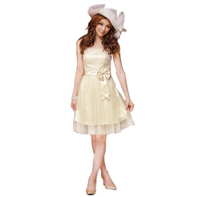 Strapless Organza Princess Women Graduation Homecoming Dress Knee Length  Bridesmaid Dress Elastic Waist Plus Size White,Pink-in Homecoming Dresses  ...