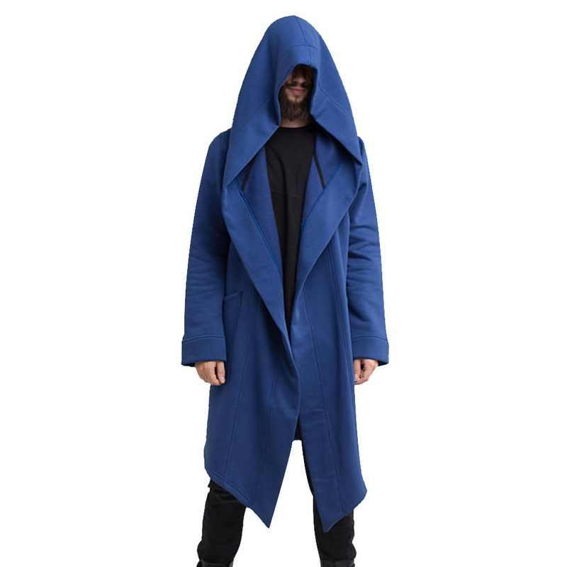 ヴィンテージ男性秋冬パーカージャケットコートカジュアルヒップホップソリッドポケットジャケットフード付き生き抜く Veste オム