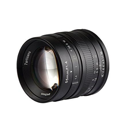 7 artisans 55mm F1.4 APS-C objectif fixe principal de mise au point manuelle à grande ouverture pour Canon EOS-M M1, M2, M3, M5, M6, 55mm F1.4 pour montage sur EOS-M