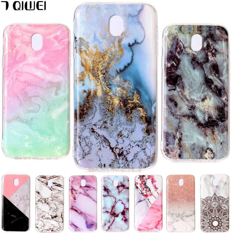 For Samsung J7 2017 Case Silicon Granite Marble Soft Tpu