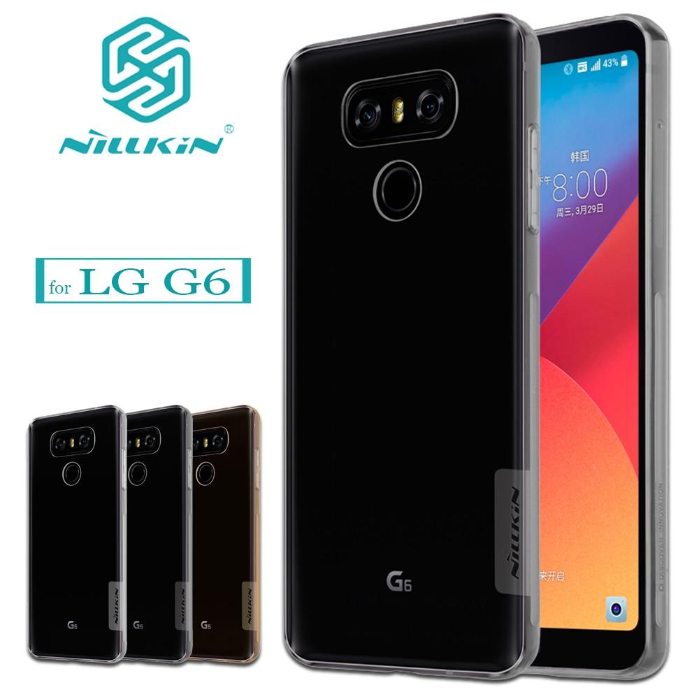 Transparent Clear Case For Lg G6 Soft Silica Gel Tpu Silicone Silikon V20 Nillkin Nature Ultrathin 06mm Original Nilkin Capa Ultra Thin Phone Bag Back
