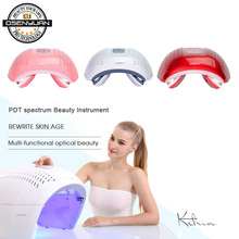 купить 2019 Home Use PDT LED Photon Light Therapy Lamp Facial Body Beauty SPA PDT Mask Skin Tighten Rejuvenation Acne Wrinkle Remover дешево