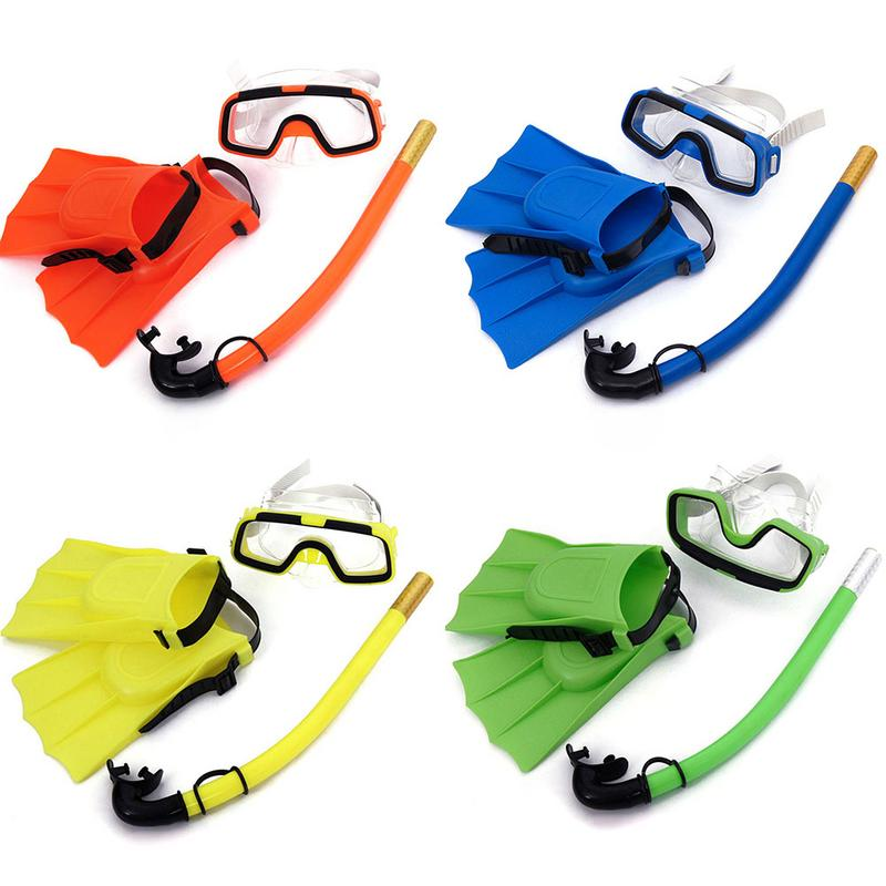 Children Snorkeling 3Piece Suit Goggles Snorkel And Flipper Combination Sale High Quality Safe Protection Child Diving Equipment