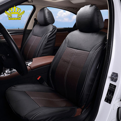 Брендовые чехлы для автомобильных сидений из искусственной кожи, универсальные, подходят для большинства автомобильных чехлов, дышащее си...