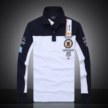 New 2016 aeronautica militare camisa masculina polo mens Long sleeve shirts,high quality Air force one shark polos clothing