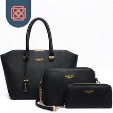 3 unidades de Asas y Bolso y bolsa para Transportar Cadáveres Cruzada set Designer Brand PU de Cuero Saffiano Bolso OL de las mujeres