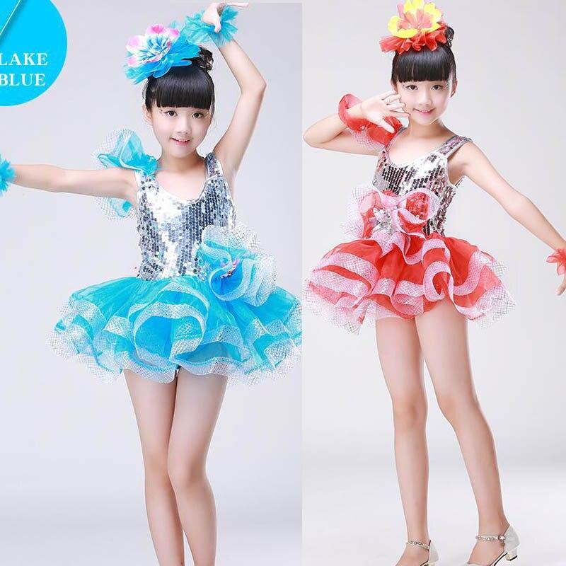 6fdeb7701434 Girls Ballroom Jazz Modern Dance dress Kids Hip Hop Ballet Dance ...