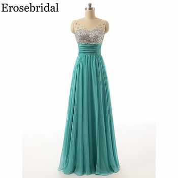 [Clearance Sale] Chiffon Long Evening Dress 2019 Formal Dresses Evening Gown Elegant Beaded Boidce with Zipper Back - DISCOUNT ITEM  5% OFF All Category