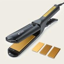 Chu Cheng 3-In-1 Hair Curler / Corn Perm / Straightener Flat Iron, Anti-scald Hair Straightening Brush, Fast Hair Straightener