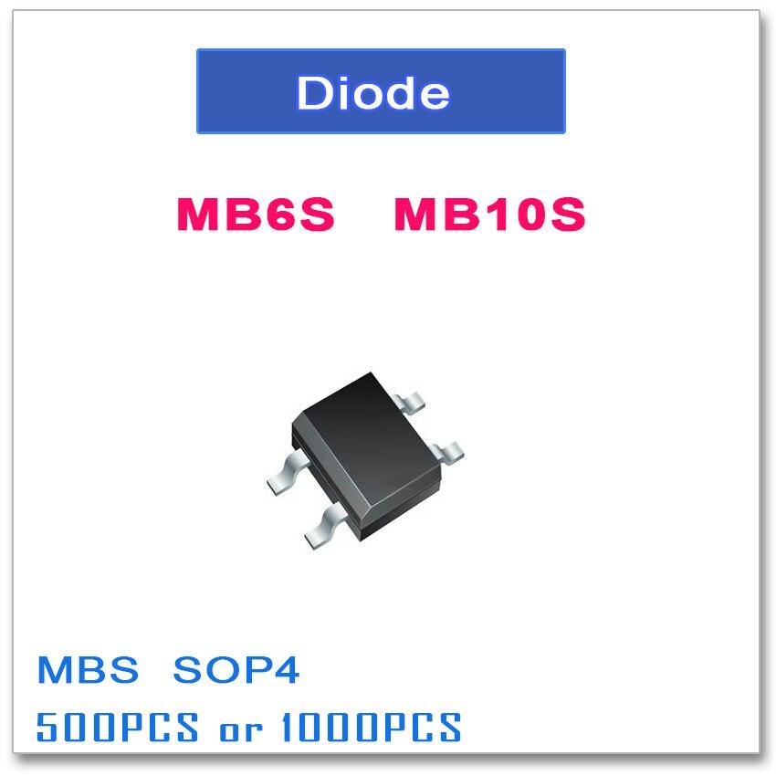 MB6S MB10S SOP-4 500PCS 1000PCS 0.5A 600V 1000V SOP4 Single Phases   MBS MB6 MB10 SMD mb6s 600v 0 5a sop 4 mb8s mb10s